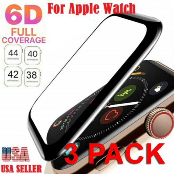 3x Tempered Glass Protector Screen For Apple Watch iWatch 38 40 42 44 mm 4 3 2 1 $6.39