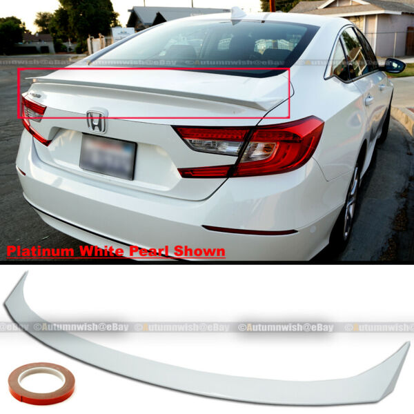 For 18-20 Accord 4DR JDM Style Trunk Lid Spoiler Wing Platinum White Pearl