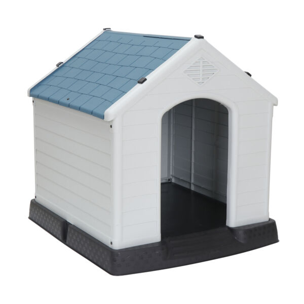 All Weather Design Dog House Shelter Easy to Assemble Perfect for Backyards $76.95
