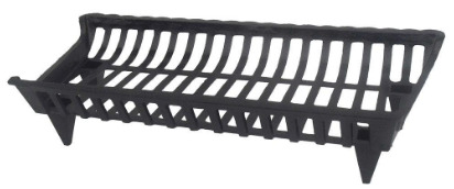 30 in. cast iron grate  fireplace pleasant hearth new ghp black floor coated