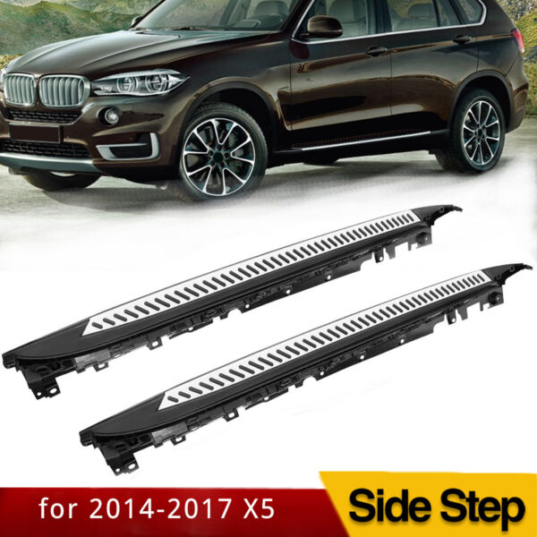 Fits 14-17 BMW X5 F15 OE Factory Style Running Board Side Step Bar Aluminum
