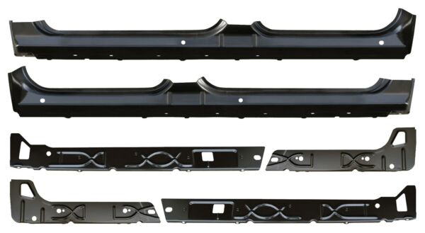 OE Style Rocker Panel Inner Rocker Kit for 07-13 Chevy Silverado Sierra Crew Cab