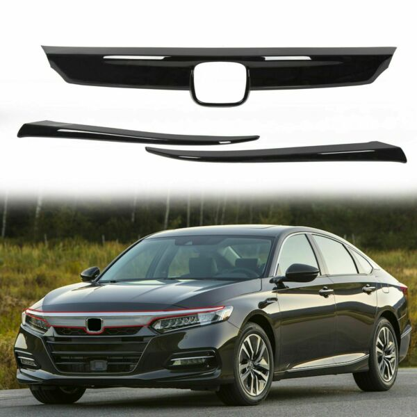 ABS Glossy Black Lip Front Grille Cover Moulding Trim for Honda Accord 2018-2020