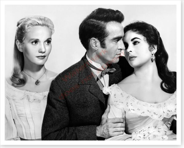 Elizabeth Taylor With Montgomery Clift And Eva Marie Saint Silver Halide Photo $12.74