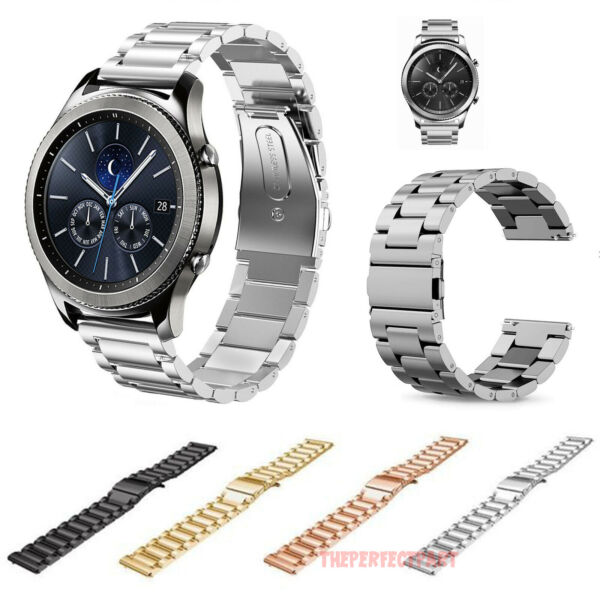 For Samsung Galaxy Watch 46mm  Gear S3 Band 22mm Metal Strap Butterfly Buckle