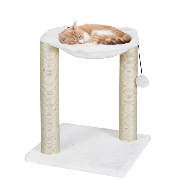 Baza Cat Tree Furniture Kitten House Play Tower Scratcher White Condo Post Bed
