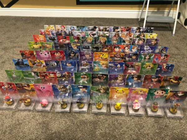 Complete! Every Smash Bros. amiibo to date! Ultimate! 82 Amiibo! Switch Wii U