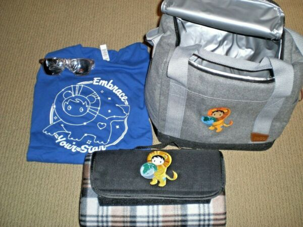 New Salesforce Astro SWAG picnic bag lunch pail blanket shirt sunglasses RARE