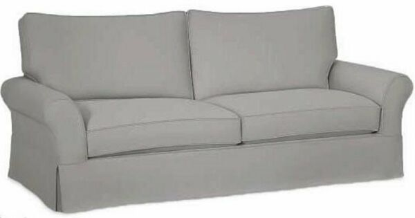 The Cotton Sofa Cover Only Fits Pottery Barn PB Comfort Grand Roll Arm Sofa. ...