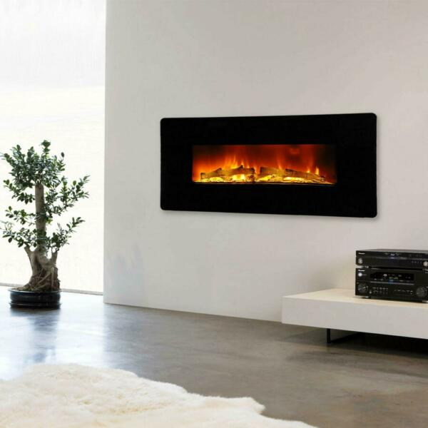 1400W 36quot; LED Electric Fireplace Recessed Wall Mounted Flame Heater