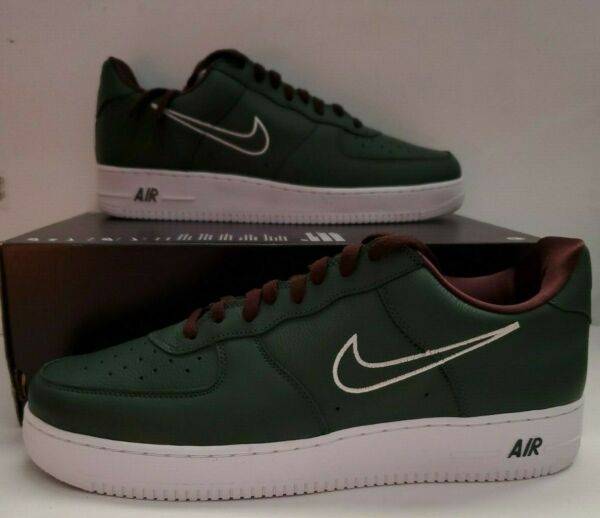 Nike Mens Air Force 1 Low Retro Size 14 Hong Kong B Deep Forest White 845053-300