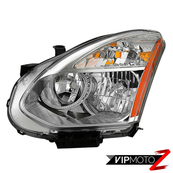 Factory Style Chrome Driver Side Headlight Lamp Left For 2008-2013 Nissan Rogue