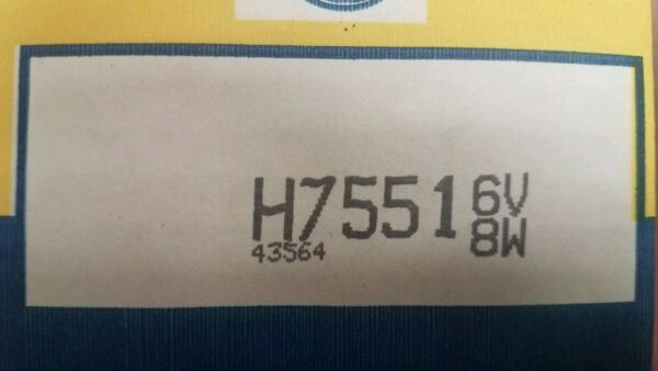 GENERAL ELECTRIC H7551 Sealed Beam Replacement Bulb 8W 6V NEW