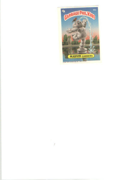 1986 TOPPS GARBAGE PAIL KIDS  CARD 92 A   MARVIN GARDENS   3rd SERIES