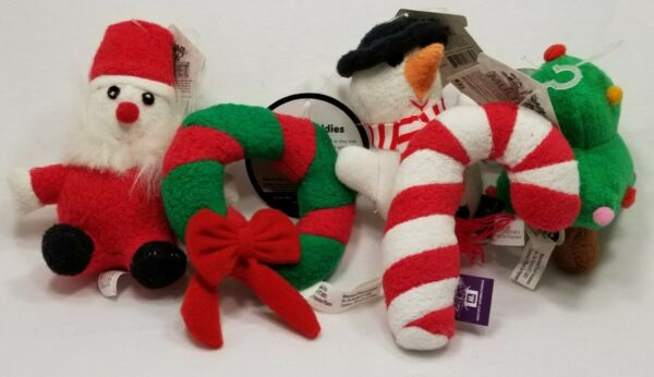 Multipet Holiday Puppy Buddies Squeaker Soft Plush dog toys toy Christmas  b17