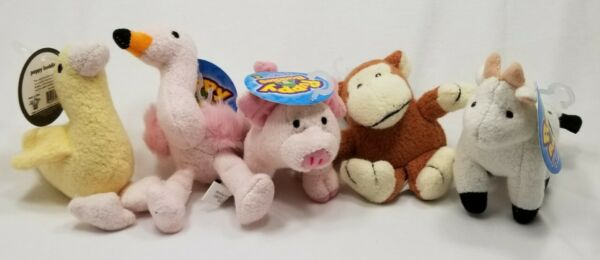 Multipet Animal Puppy Buddies Squeaker dog toys toy b17 Monkey flamingo cow pig
