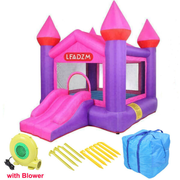 Safety Inflatable Bounce House Kids Moonwalk Jump Castle Slide with Air Blower
