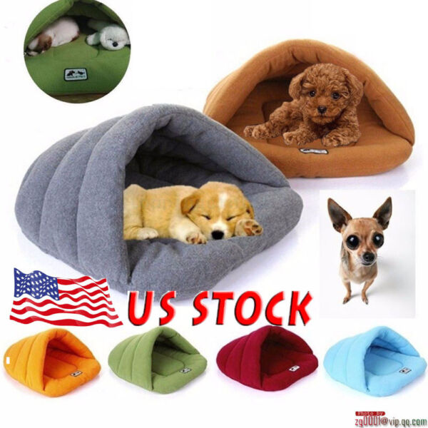 Winter Pet Dog Cat House Cave Soft Bed Cushion Slipper House Kennel Sleeping Pad