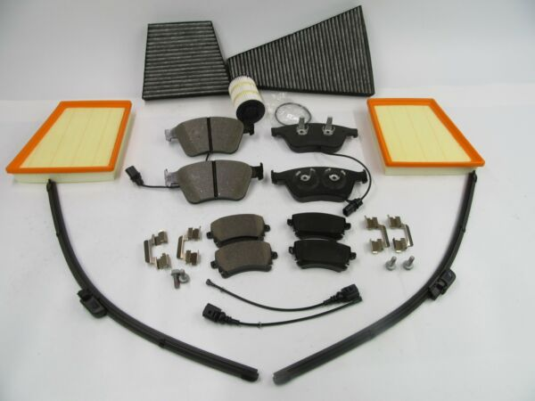 Bentley Continental V8 front rear brake pads air oil cabin filters wiper blades