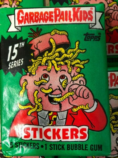 GARBAGE PAIL KIDS SERIES 15 UNOPENED PACK STICKERS NO 25 CENTS WRAPPER