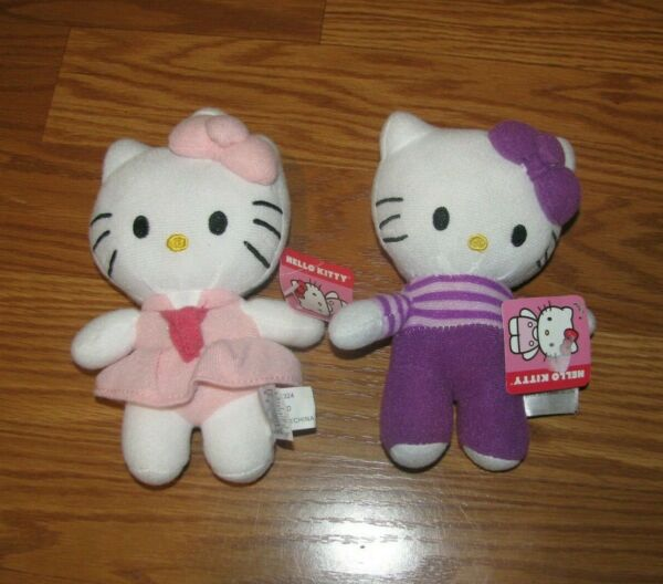 2 Hello Kitty 7.5quot; 2014 Plush Sanrio Lot with tags
