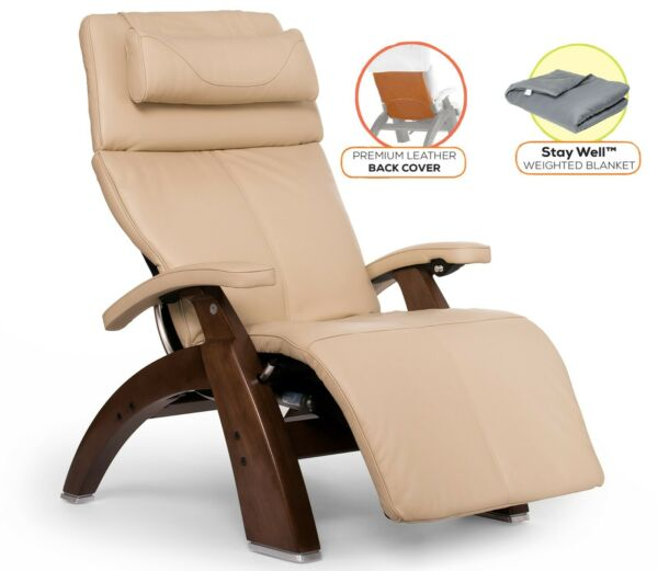 Human Touch PC-610 Power Perfect Chair Zero Gravity Recliner + Cover + Blanket