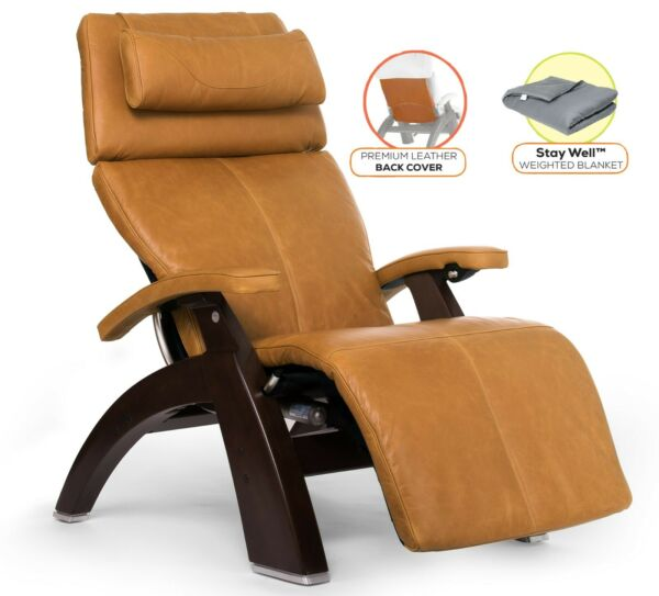Human Touch PC-610 Power Perfect Chair Recliner + Back Cover + Weighted Blanket