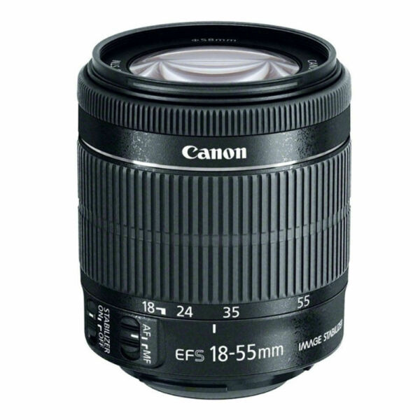 Canon EF S 18 55mm f 3.5 5.6 IS STM Lens White Box for Canon EOS Rebel Series