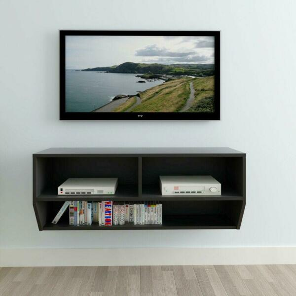 Floating TV Stand Wall Mount Entertainment Center Cabinet Media Console Black