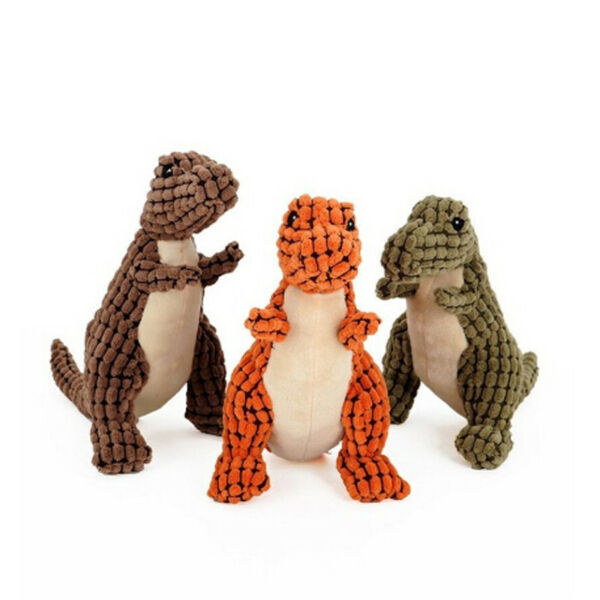Dinosaur Pet Dog Chew Squeaker Plush Toy Puppy Squeaky Sound Playing Antic Toys