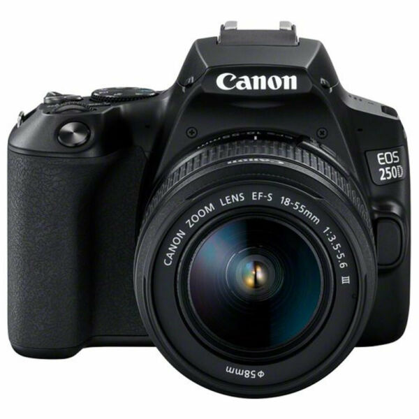 Canon EOS 250D  SL3 with EF-S 18-55mm f3.5-5.6 III Lens (Black)