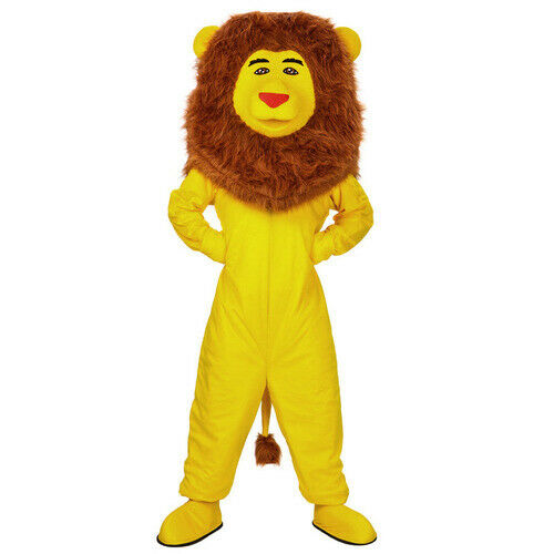 Halloween Yellow Fursuit Lion Mascot Costume Cosplay Dress Clothing Xmas Easter