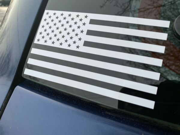 SUBDUED AMERICAN FLAG WHITE Vinyl Decal Indoor amp; Outdoor Sticker. Choose Size $2.99