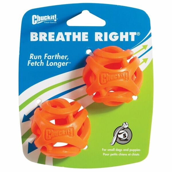 Chuckit Breathe Right Fetch Ball Dog Toy Small 2 pack $9.98