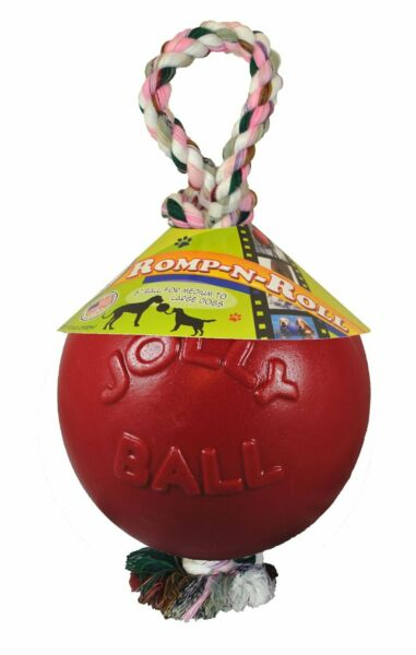 Jolly Pets Romp-n-Roll Ball for Dogs Red 4.5 inch $13.18