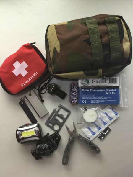 Survival Kit Emergency Gear Military Camping Tactical Outdoor Disaster Hiking