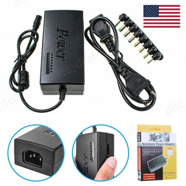 Universal Power Supply Charger for PC Laptop & Notebook ACDC Power Adapter US