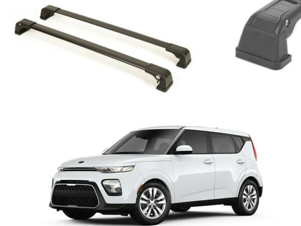 CAR ROOF RACK FACTORY FIXED POINT CROSS BAR FOR NEW KIA SOUL 2020 BLACK $109.11