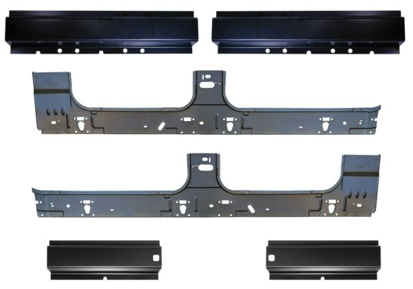 Front & Rear & Inner Rocker Panel Kit for 99-16 F250 Super Duty Crew Cab Pickup