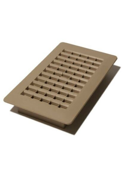 "Plastic Floor Register 4""x8"" Taupe PL408-TA"