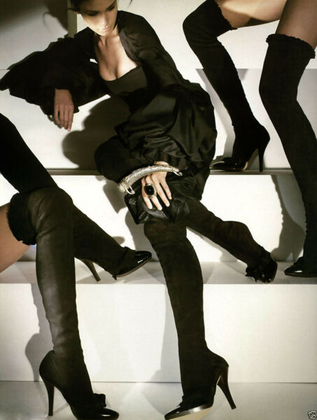 New Tom Ford for Yves Saint Laurent FW 2001 AD Campaign Over Knee Boots 38 - 8