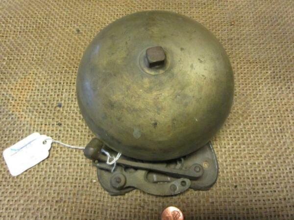Vintage Brass Boxing Bell gt; Antique Sports Old Iron Box School Fire Bells 7078