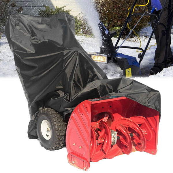 Snow Thrower Cover  Anti-UV Waterproof Snow Thrower Snowblower  Heavy Duty Cover