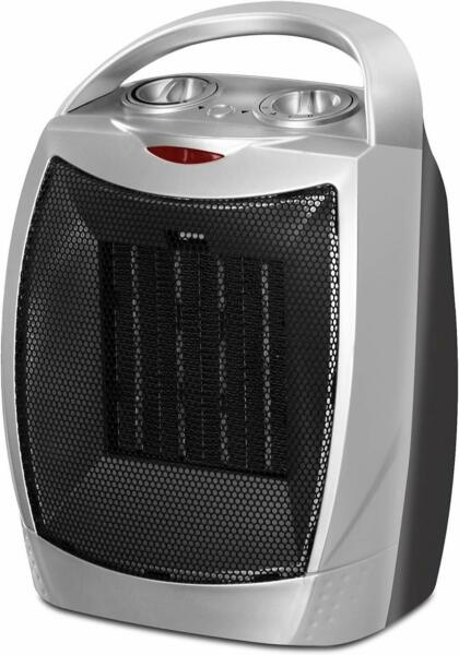 Ceramic Space Heater 750W1500W Adjustable Thermostat Utopia Home