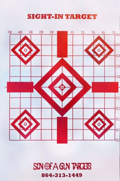 50 Pack Shooting Paper Targets Precision Sight In Target $16.99