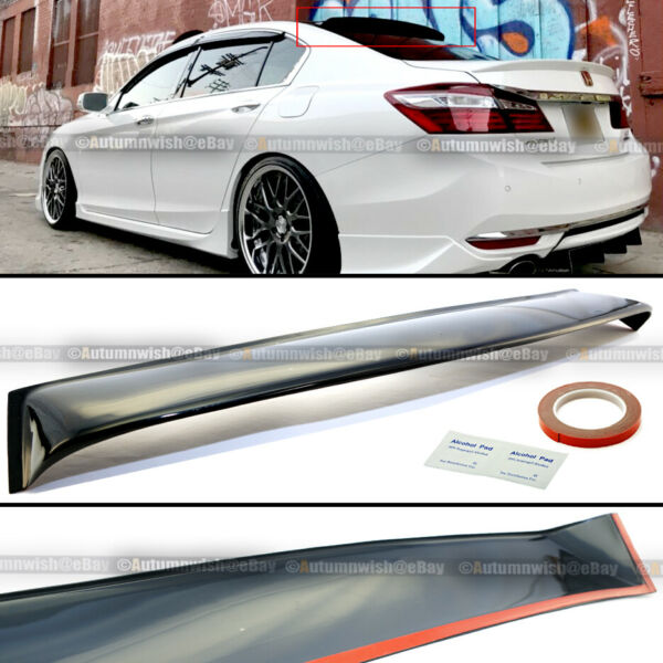 Fit 13-17 Honda Accord 9TH Gen 4 Dr JDM Rear Window Roof Vent Visor Spoiler Wing