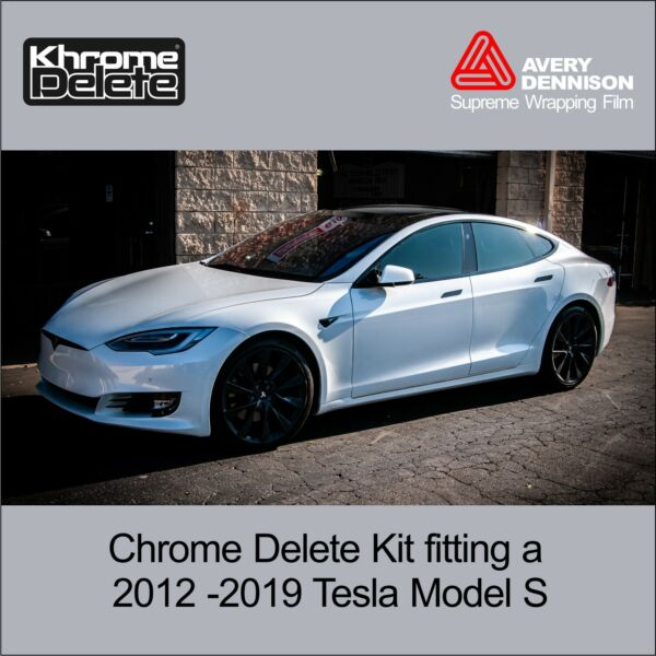 Chrome Delete Kit fitting Tesla Model S