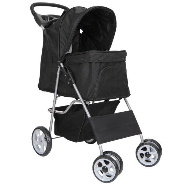Dog Stroller Pet Travel Carriage for Dogs amp; Cats with Foldable Carrier Cart $68.99