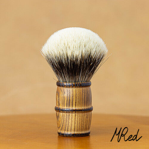 Shaving Brush oak & Badger Hair 2-Band Silvertip 1 332in XL Large Mred France