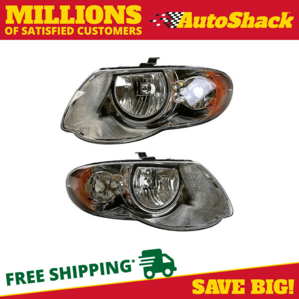 Head Light Assembly Pair for 2005 2006 2007 Chrysler Town & Country